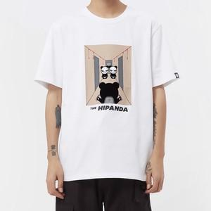 【HIPANDA】メンズ Tシャツ MEN'S MOVIE PARODY PRINT SHORT SLEEVED T-SHIRT / WHITE