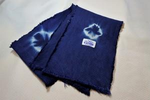 藍染め刺し子織ストール22㎝×160㎝