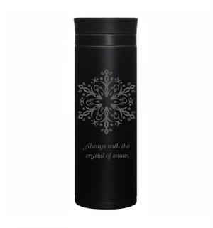 ステンレスカフェボトル500ml『snowflakes』ブラック