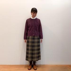 C-21652 <Hanna> Wool Tartan Pleated Skirt