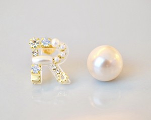 【R】Initial bijou pierce/earring