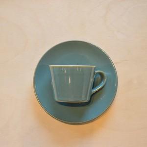 つかもと 益子焼 コーヒーカップ&ソーサー(皿) 益子青磁釉