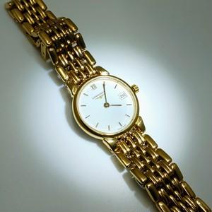 LONGINES ロンジン 金色婦人用腕時計 クォーツ L5 132 2 12 6