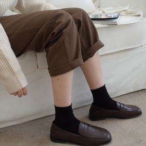 スクエアトゥ2wayローファー かかと踏める 革靴 スクエアトゥ ローヒール 厚底 合皮 革 黒 ブラック 茶 ブラウン 大人カジュアル 学生 韓国