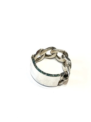 【GARDEN OF EDEN】CHAIN PLETED RING with TURQUOISE
