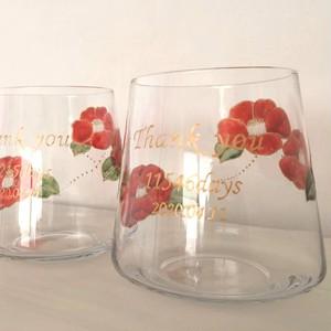 【結婚式両親贈呈品】文字入れ椿ツバキつばきの花瓶・花卉・花器・フラワーベース1個|母の日ギフト・還暦祝い