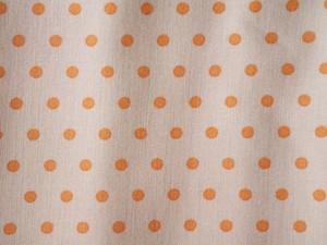 Moda Squirrelly  Girl ミルクベージュにオレンジの水玉