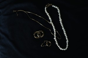silver925 necklace B/gold plating