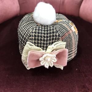 【即納】ルルドール 自由が丘冬ガール お揃いベレー帽 ピンク