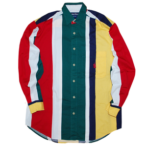 """Nautica"" Vintage Stripes Shirts Used"