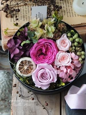 バラと香りのBOXフラワーギフト/エスプリピンク/プリザーブドフラワー/結婚祝い/お誕生日祝い/出産祝い/サプライズギフト/フラワーギフト【お届け日指定可能】