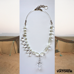TRANSPARENT TUAREG NECKLACE MIDDLE  #yellow[VTAC-SS18011]