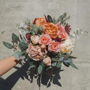 New*【Rental7泊8日】peony grayish bouquet & boutonniere