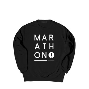 NINE CREW SWEAT M381102- BLACK / クルー スウェット シャツ  MARATHON JACKSON マラソン ジャクソン