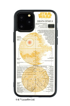 FLASH DEATH STAR 基板アート iPhone 11 Pro ケース  白【東京回路線図A5クリアファイルをプレゼント】