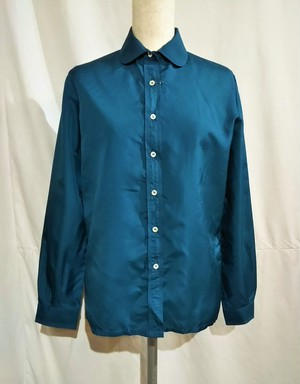 Round collar blouse /Made In France [O-447]