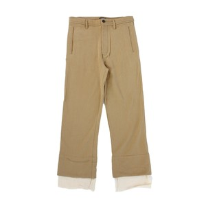 ANN DEMULEMEESTER Beige Cotton Trousers