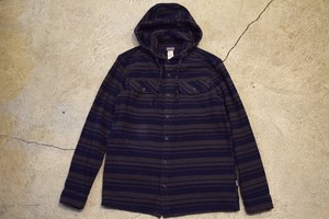 USED patagonia Hooded Flannel Shirt -Small S0679