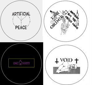 """Artificial peace / Law & Order / Dag Nasty / Void - 1"""" pin button(2.5cmバッジ)"""