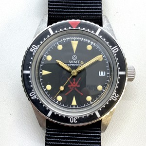 W.MT WATCH SEA DIVER Small Crown Red Oman Ltd Ver.  (AGED BEZEL,HANDS,CASE) WMT205-01BK