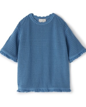 MESHED TEE[BLUE]