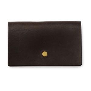 forme Card case Liscio dark brown
