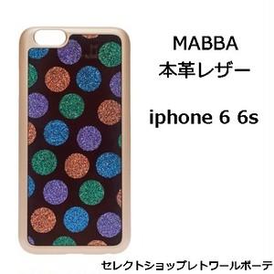 mabba マッバ ドイツ 美麗 装飾 レザー iPhone 6 6s Case Dancing Queen aus echtem Leder 本革 アイフォン シックス ケース ドット柄 海外 ブランド