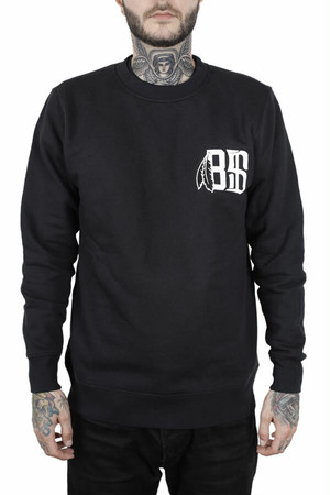 BLACK SCALE(トレーナー)BONE FEATHER CREW NECK SWEAT BLACK ブラックスケール 5271