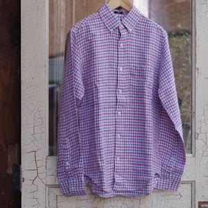J.CREW Linen Plaid Shirt / リネン チェック シャツ