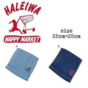 〈HALEIWA HAPPY MARKET〉デニム ハンドタオル / ハワイアン / フラ雑貨 / キッチン雑貨