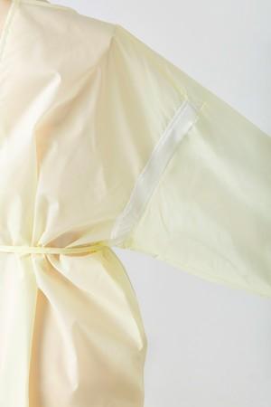 【10着セット】メッシュ付き洗えるアイソレーションガウン(ライトイエロー)