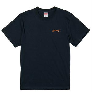 goomiey 刺繍Tシャツ(ネイビー)