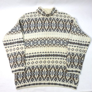 UNITED COLORS OF BENETTON  MOCK NECK NORDIC SWEATER (オールドベネトンセーター)