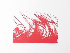 """102. シルクスクリーン """"夏(赤) / 四季"""""""