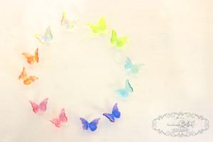 蝶のミニクリアピアス・イヤリング-suisai-
