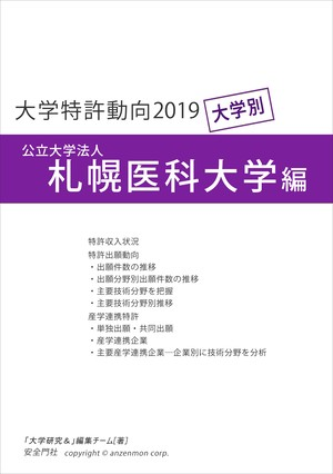 大学特許動向2019―札幌医科大学編