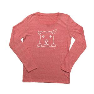 犬Tシャツ  レディース 長袖