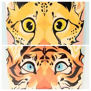 【mofuwa】ポストカード(LOOK -Cheetah&Tiger-)