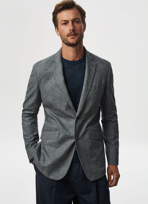 LINEN AND COTTON BLAZER JACKET