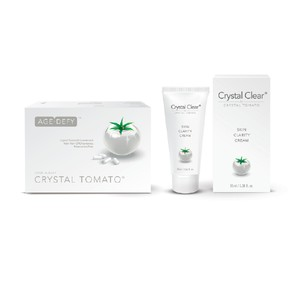 Crystal Tomato & Clear Set