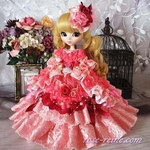 薔薇の花園 波打つWフリルにかこまれた麗しの王妃 プリンセスドレス