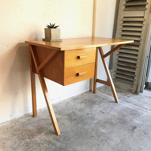 Vintage Birch Wood Desk 1960's オランダ