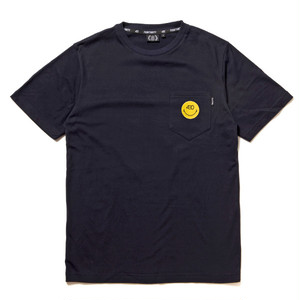 FOURTHIRTY (430) SMILE ICON LOGO S/S POCKET TEE / BLK / サイズ2