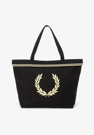 TWIN TIPPED TOTE BAG BLACK