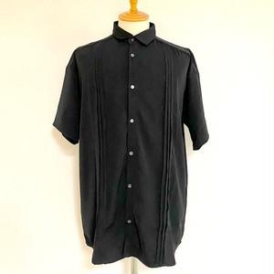 Front Tuck Big Shirts Black