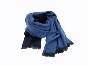 【STILL BY HAND】Wool Stole (blue×navy)