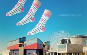 anomatopee socks 【MARUMARUなでしこ】 アノマトペ ソックス 靴下 S〜L(13cm〜24cm)
