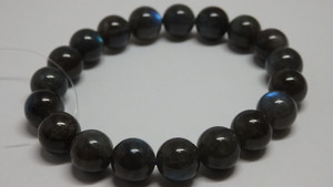 ブラックラブラドライトブレスレット 10.5~11mm