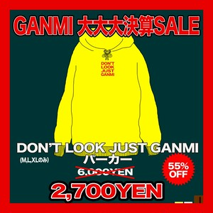 DON'T LOOK JUST GANMIパーカー