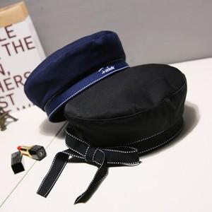 3色 girly ステッチリボン マリンベレー帽 c0588